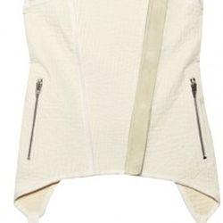 Suede-trimmed cotton and linen-blend vest, $348.25 (orig. $995)