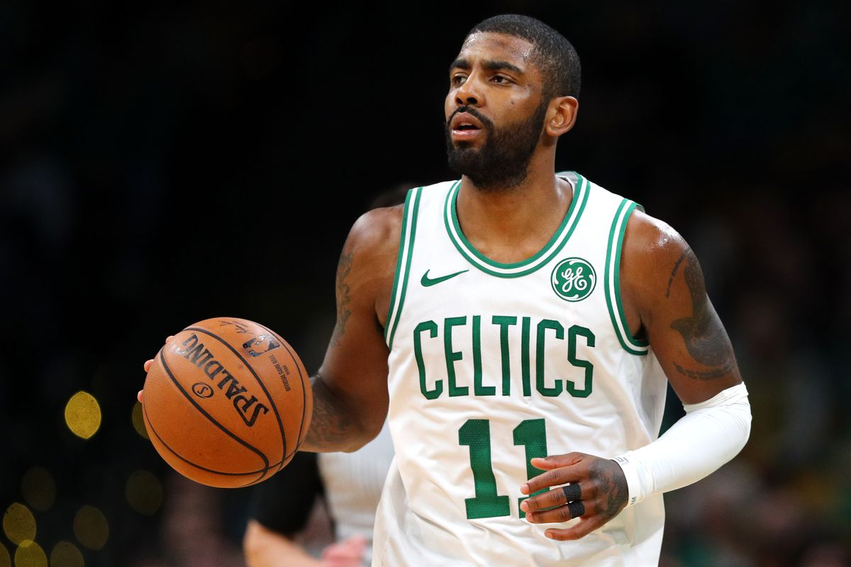 kyrie irving dribbled off his knee on purpose we think