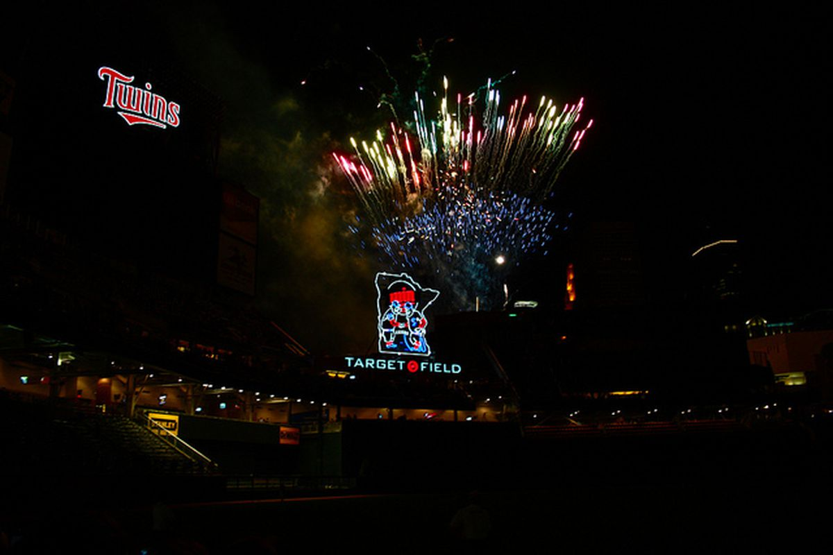 Fireworks spring into the air at Target Field on Friday, July 2. (Photo courtesy of Rockin' Rob on Flickr and used with permission).
