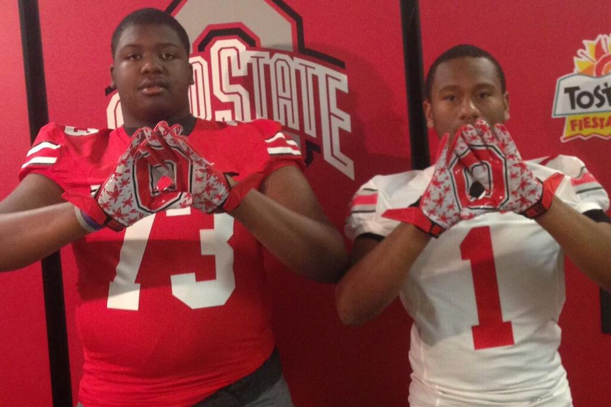 Jamarco Jones will sign with Ohio State. Shelby Spence (right) visits this weekend.