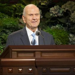 Elder Russell M. Nelson, Quorum of the Twelve Apostles speaks during the Sunday afternoon session of the 183rd Semiannual General Conference for the Church of Jesus Christ of Latter-day Saints Sunday, Oct. 6, 2013 inside the Conference Center.