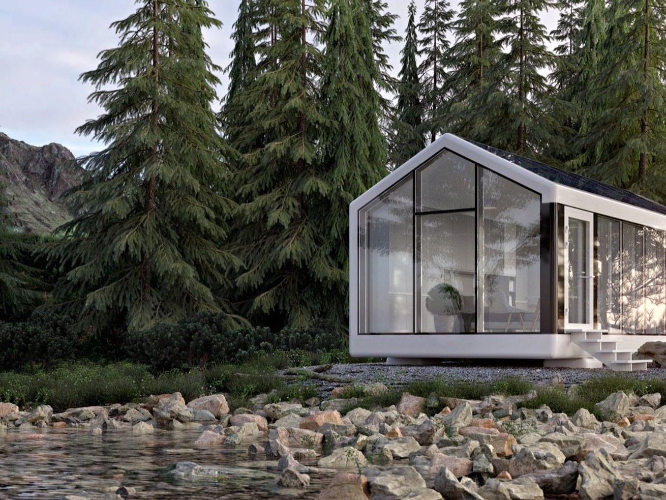 Solar-powered prefab home comes move-in ready