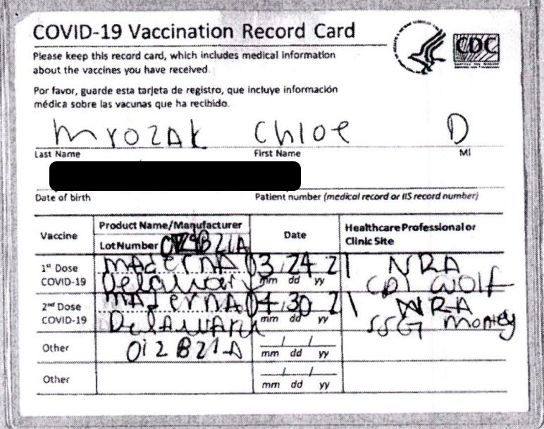 Authorities say an Oak Lawn woman used this bogus CDC COVID-19 vaccination card to bypass a mandatory 10-day quarantine in Hawaii.