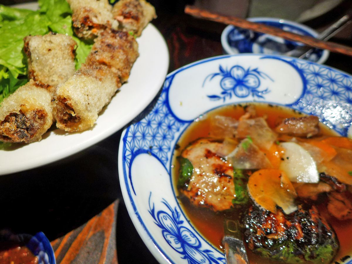 Bun cha at Hanoi House provides a filling meal