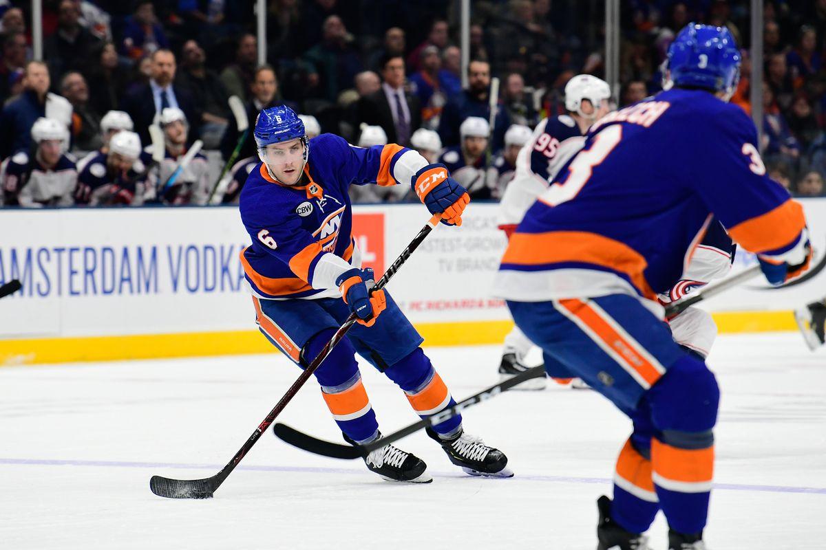 NHL: Columbus Blue Jackets at New York Islanders
