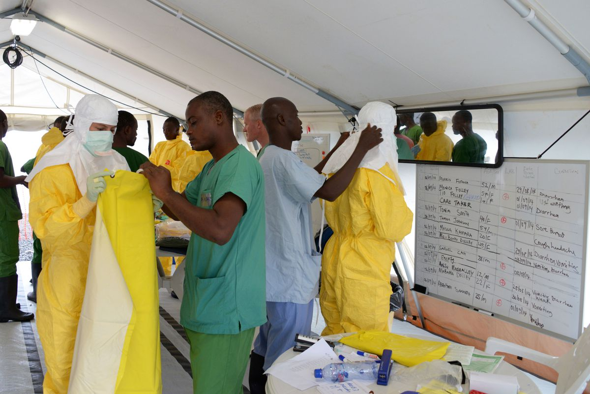 Medical workers PPEs Liberia