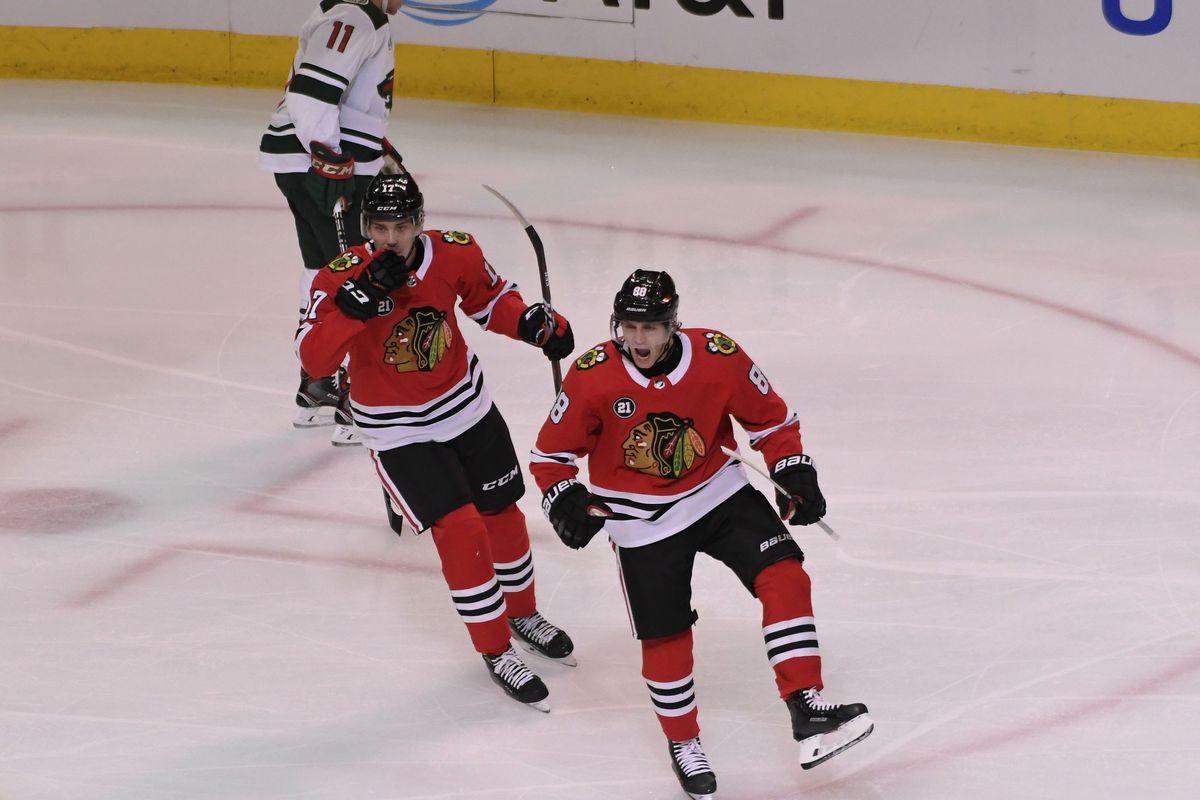 Watch  Blackhawks  Patrick Kane scores hat trick vs. Wild - Second City  Hockey 89b0daca18c