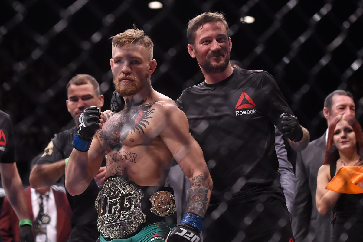 McGregor coach Kavanagh questions why UFC 257 fight isn't for the belt - MMAmania.com