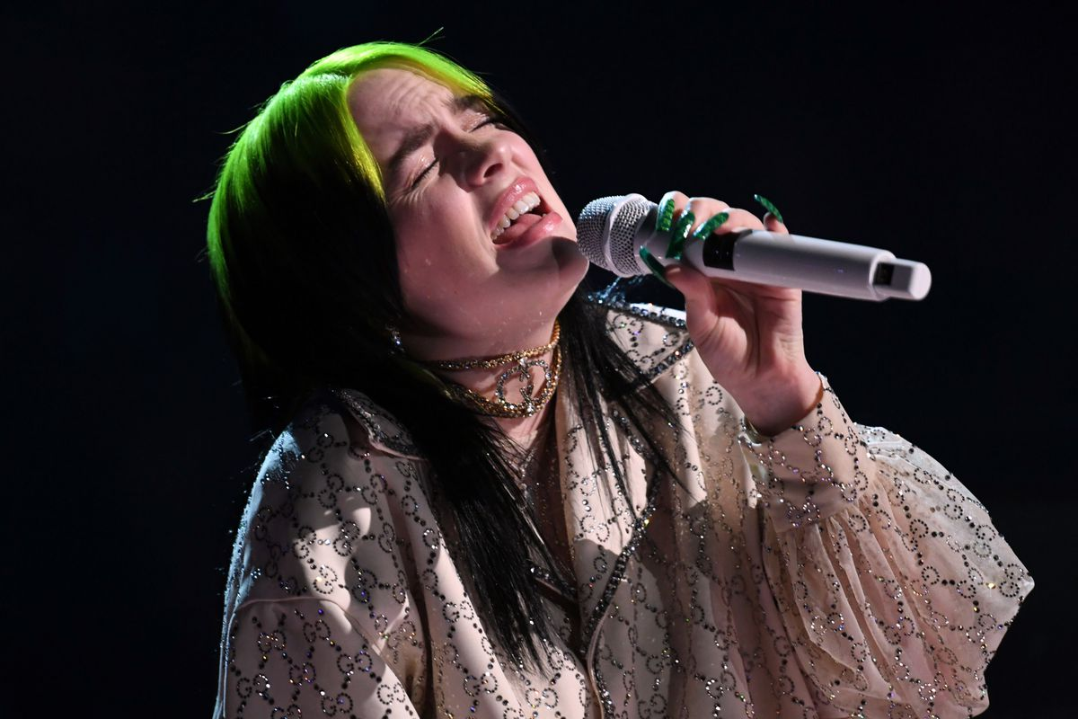 Billie Eilish performs onstage during the 62nd Annual Grammy Awards at the Staples Center in January.
