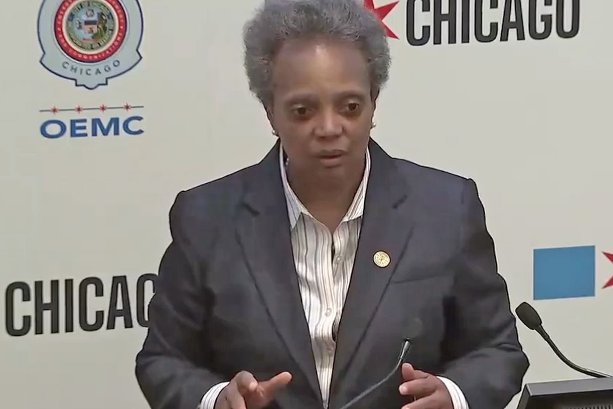 """Mayor Lori Lightfoot was dismissive of Trump's threat that he would send troops to U.S. cities. """"This is a man who likes to bluster,"""" she said Tuesday."""