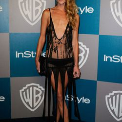 Pre-Zoe at the InStyle and Warner Bros Golden Globes party
