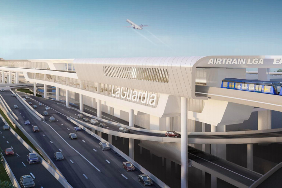 Nyc Subway Map Airtrain.New Looks At Laguardia Airtrain Now One Step Closer To Reality