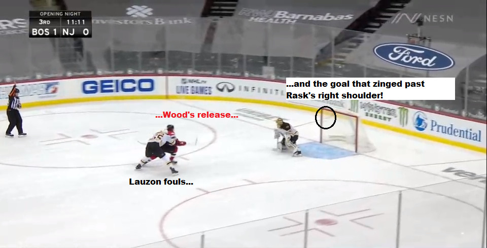 Part 12: Wood scores from the right upper hashmark! And gets a hug from Lauzon!
