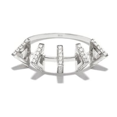 Azlee diamond and gold band