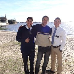 Noel Lopez, right, is shown during his time as a missionary in Uruguay.