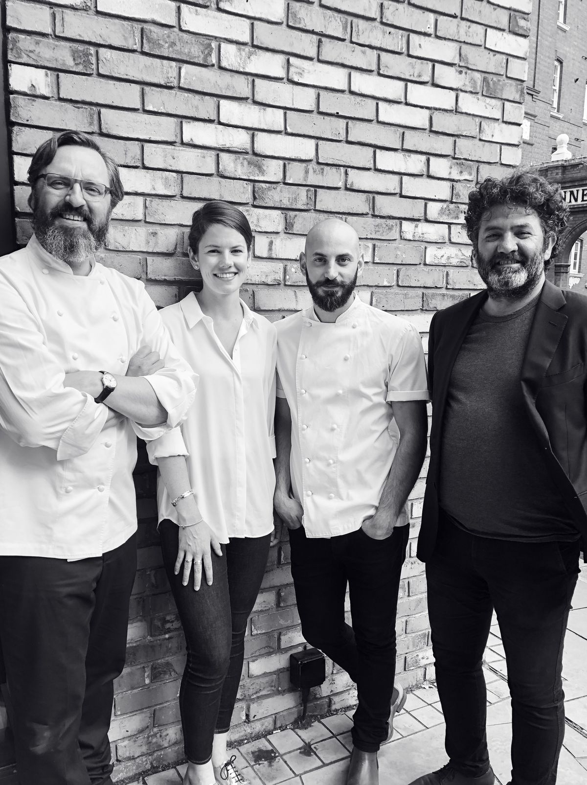 Jonny Lake, Melissa Fergus, Michele Stanco, and Isa Bal, the core team at Trivet in London Bridge. All previously worked at the three-Michelin-starred Fat Duck