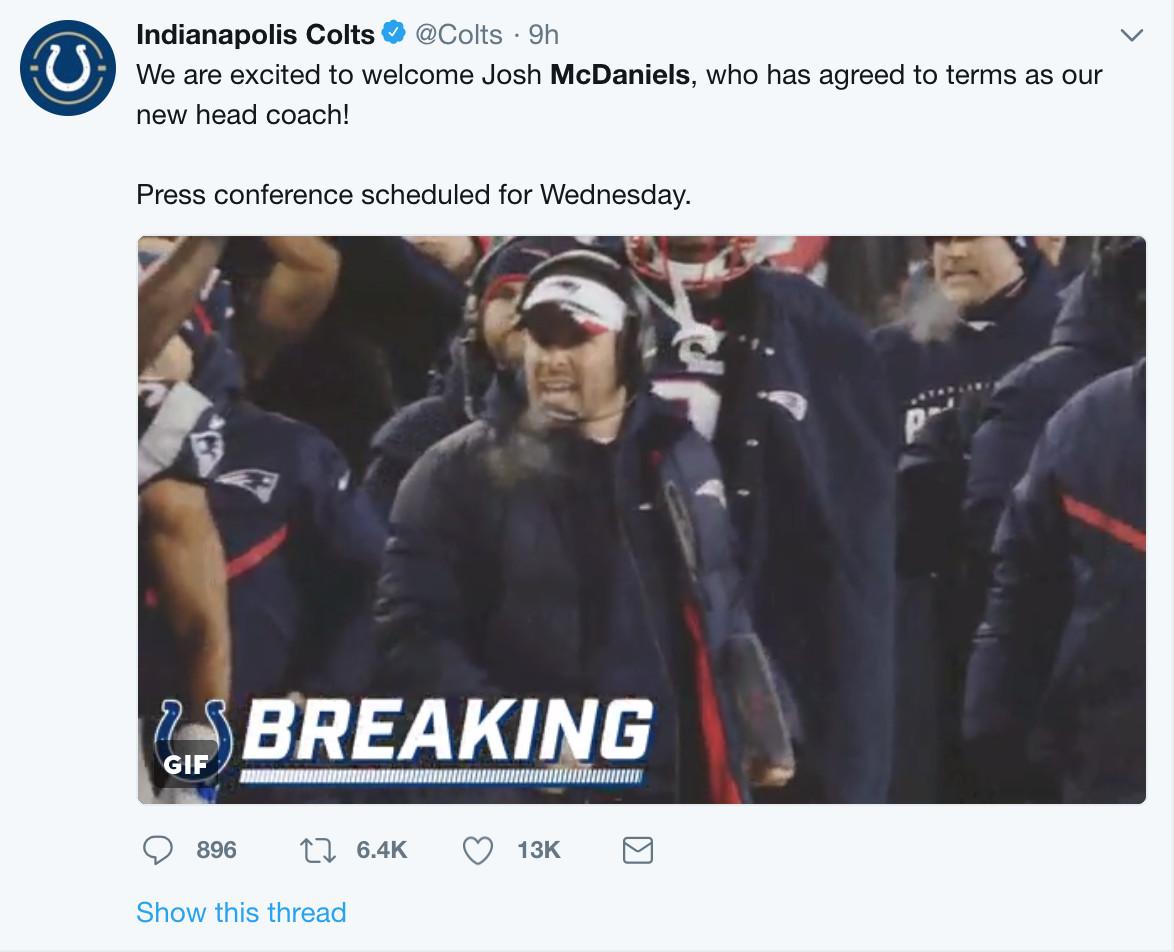 Josh Mcdaniels Just Replicated Bill Belichicks Infamous Jets