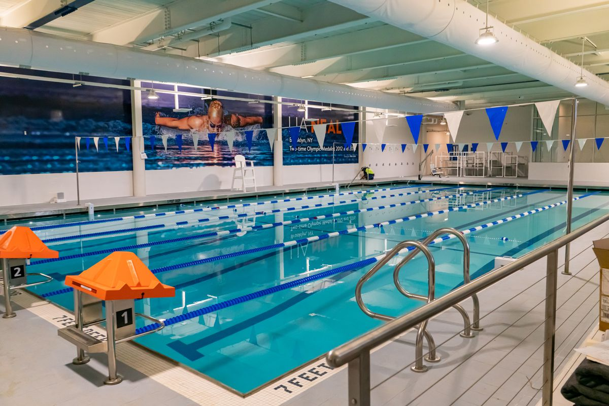 The pool at the Major Owens Recreation Center in Crown Heights Union Bedford Armory, Sept. 8, 2021.