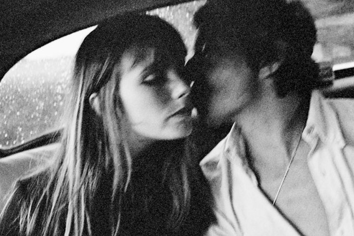 """Jane Birkin and Serge Gainsbourg. Photo via <a href=""""http://www.taschen.com/pages/en/catalogue/photography/all/05779/facts.jane_serge_a_family_album.htm"""">Taschen</a>."""