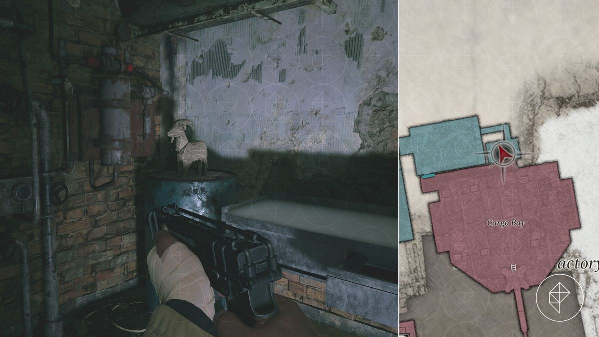 Resident Evil Village Goat of Warding collectible Heisenberg's Factory Cargo Bay map location