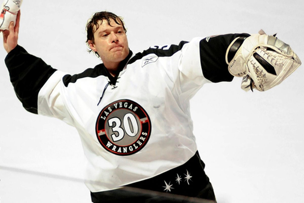 Joe Fallon, cute and sweaty and finding his rhythm back in the AHL again for Houston. <em>Photo from ECHL.com</em>