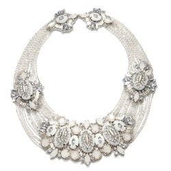 """Suzanna Dai at Charm and Chain, <a href= """"http://www.charmandchain.com/products/ivory-windsor-necklace""""> Ivory Windsor Necklace</a>, $470.00"""