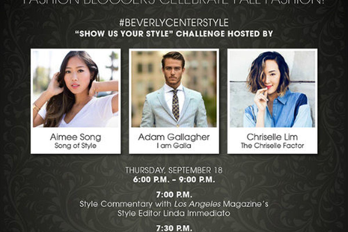 Flyer via Beverly Center
