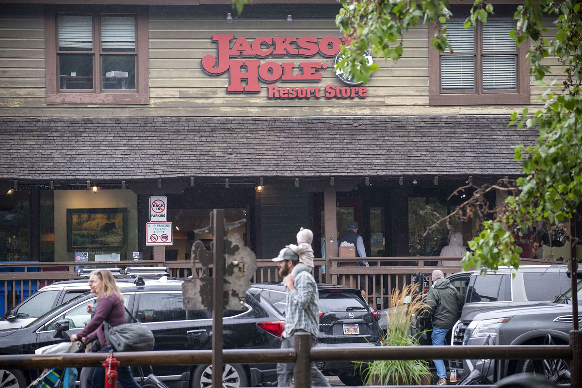 The Jackson Hole Resort Store in downtown Jackson, Wyo., is pictured on Aug. 18, 2021.