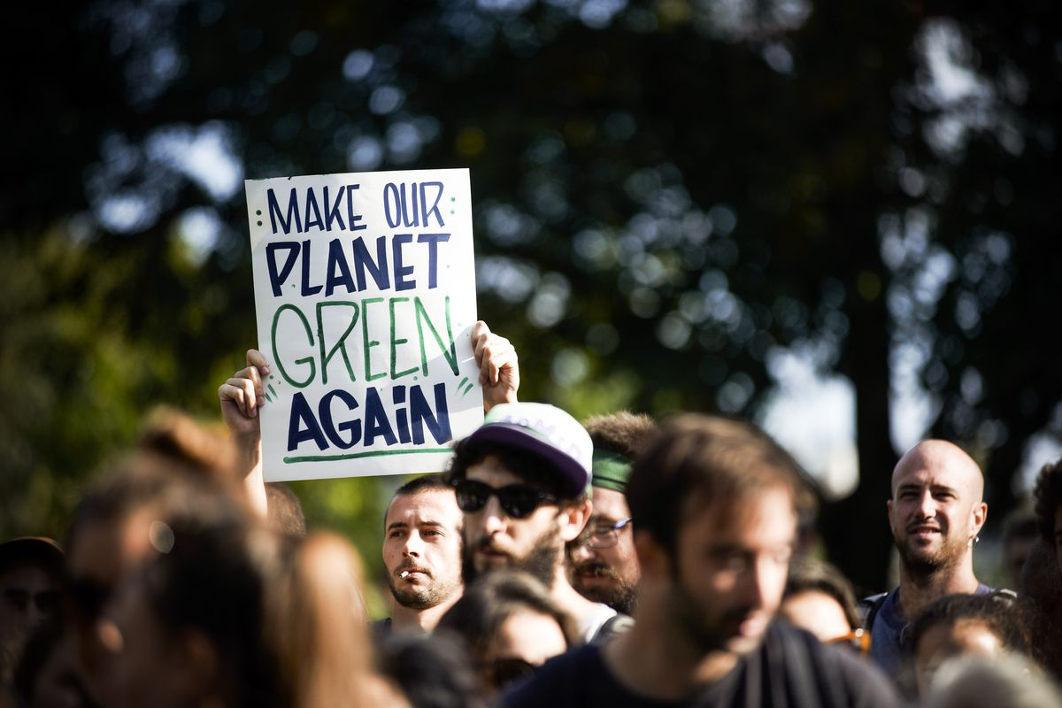"""March for the Climate organized a climate march in Toulouse, France, with the motto '#it's still time,"""" attracting thousands of people, on October 13th 2018."""