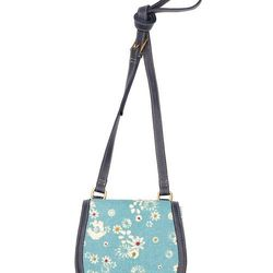Look 22: Canvas Mini Saddle Bag in Blue Floral, $24.99 (Available at Target.com only)