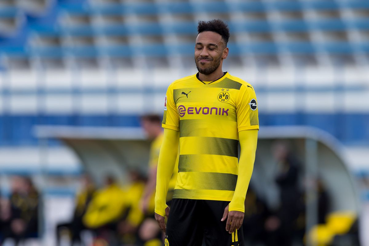 huge selection of 65fdc 63712 Arsenal target Pierre-Emerick Aubameyang trained today with ...