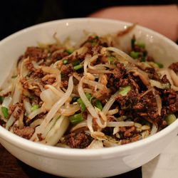 """Pork Zha Jiang Biang Biang Noodles from Biang! by <a href=""""http://www.flickr.com/photos/chunso/8255799047/in/pool-eater/"""">Chun's Pictures</a>"""