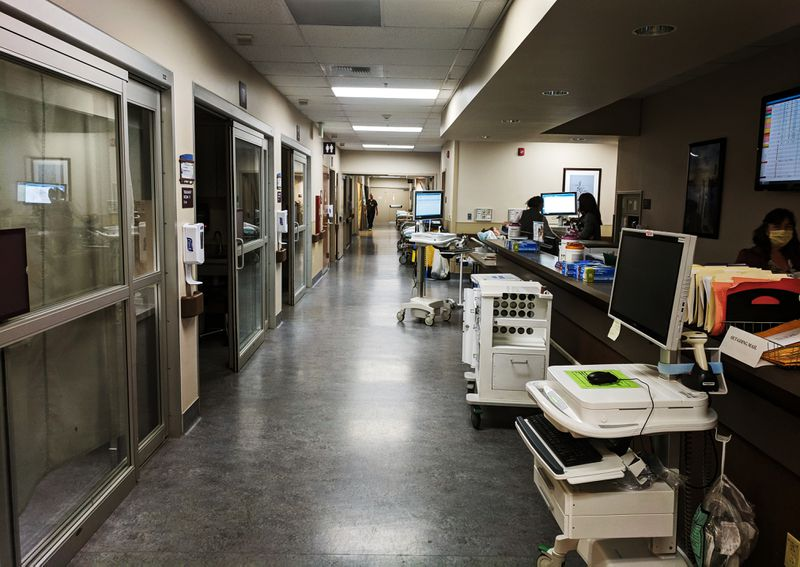 The emergency department at the Marshall Medical Center in Placerville, California, where patients with opioid addiction are started on treatment on the spot.
