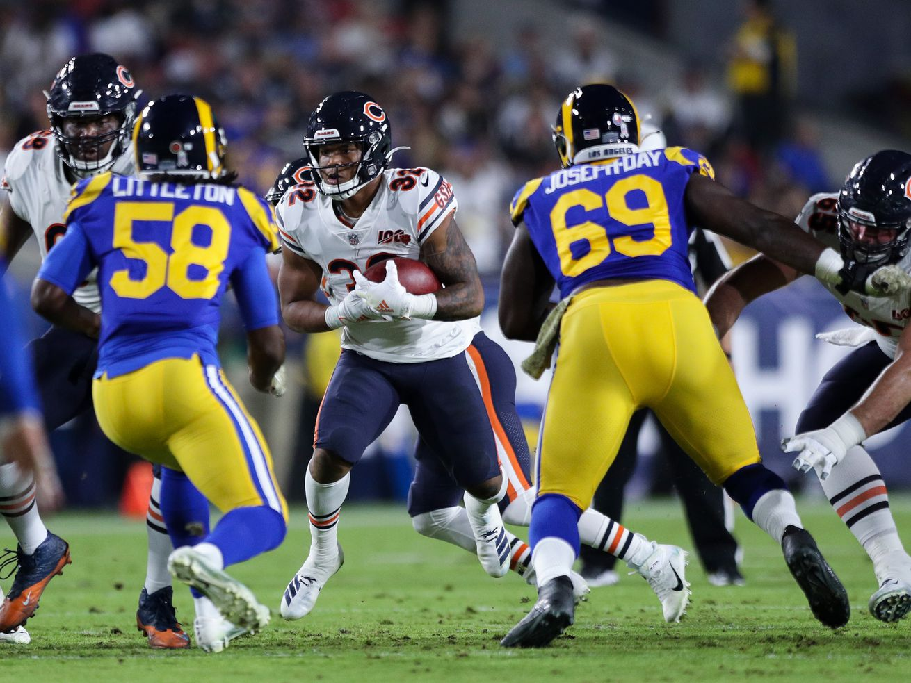 Bears RB David Montgomery plays after being game-time decision