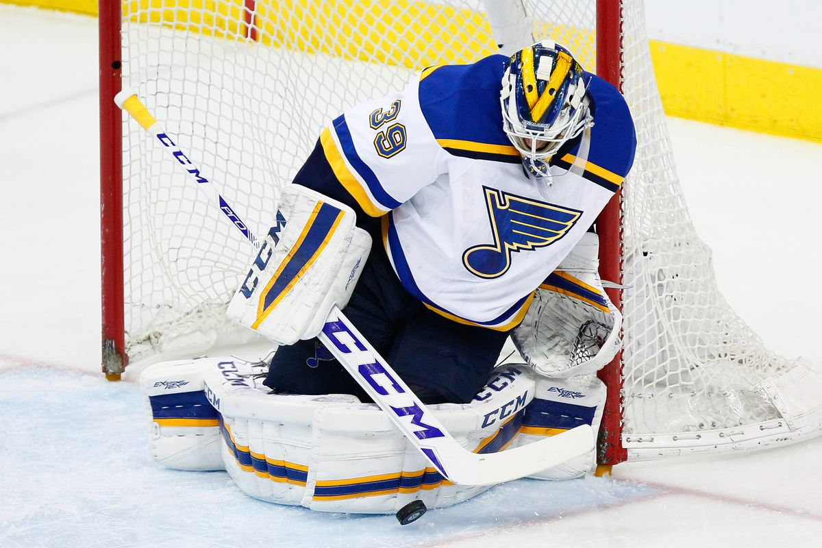 Anders Nilsson at the St Louis Blues