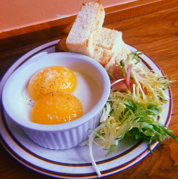 Coddled duck eggs at Hunky Dory