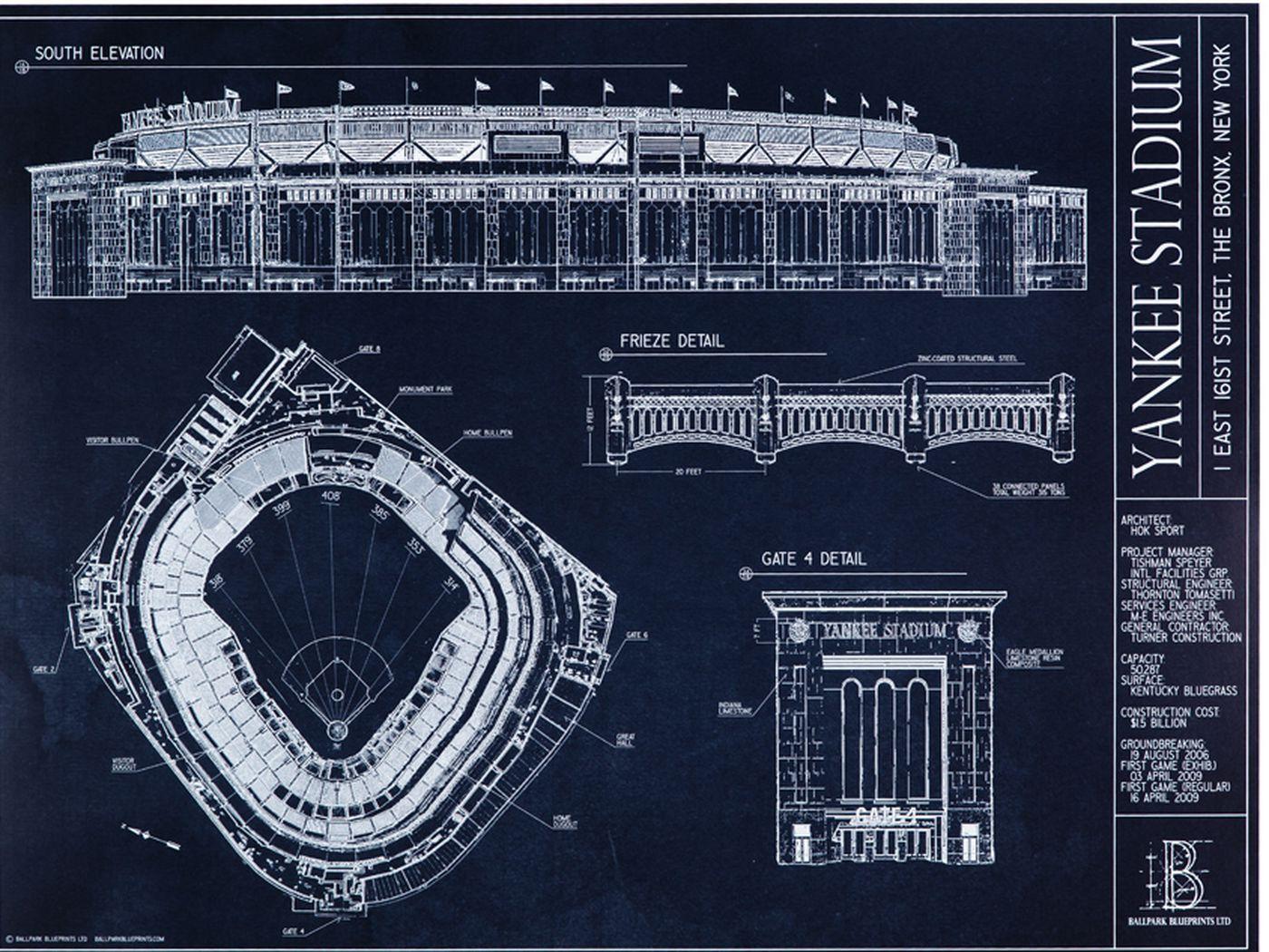Ballpark blueprints yankee stadium pinstripe alley malvernweather Gallery