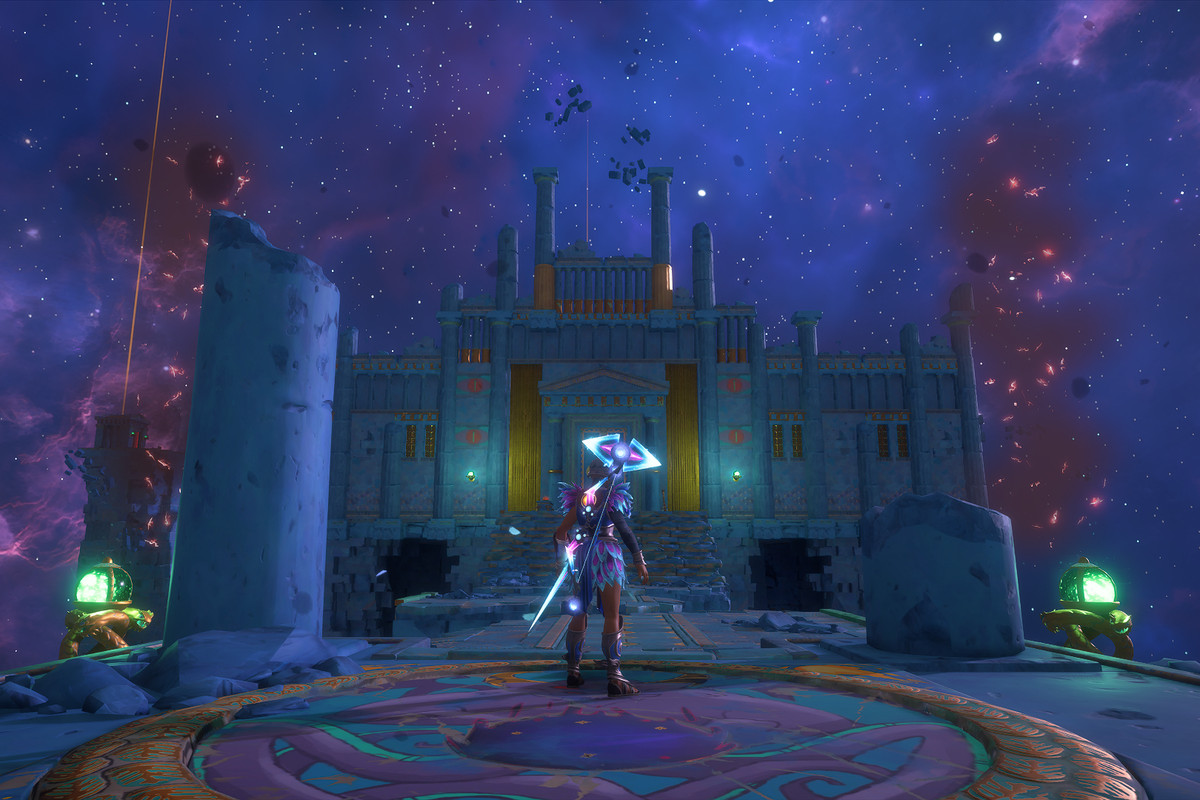 The entrance to the Arena of Legends Vault of Tartaros in Immortals Fenyx Rising