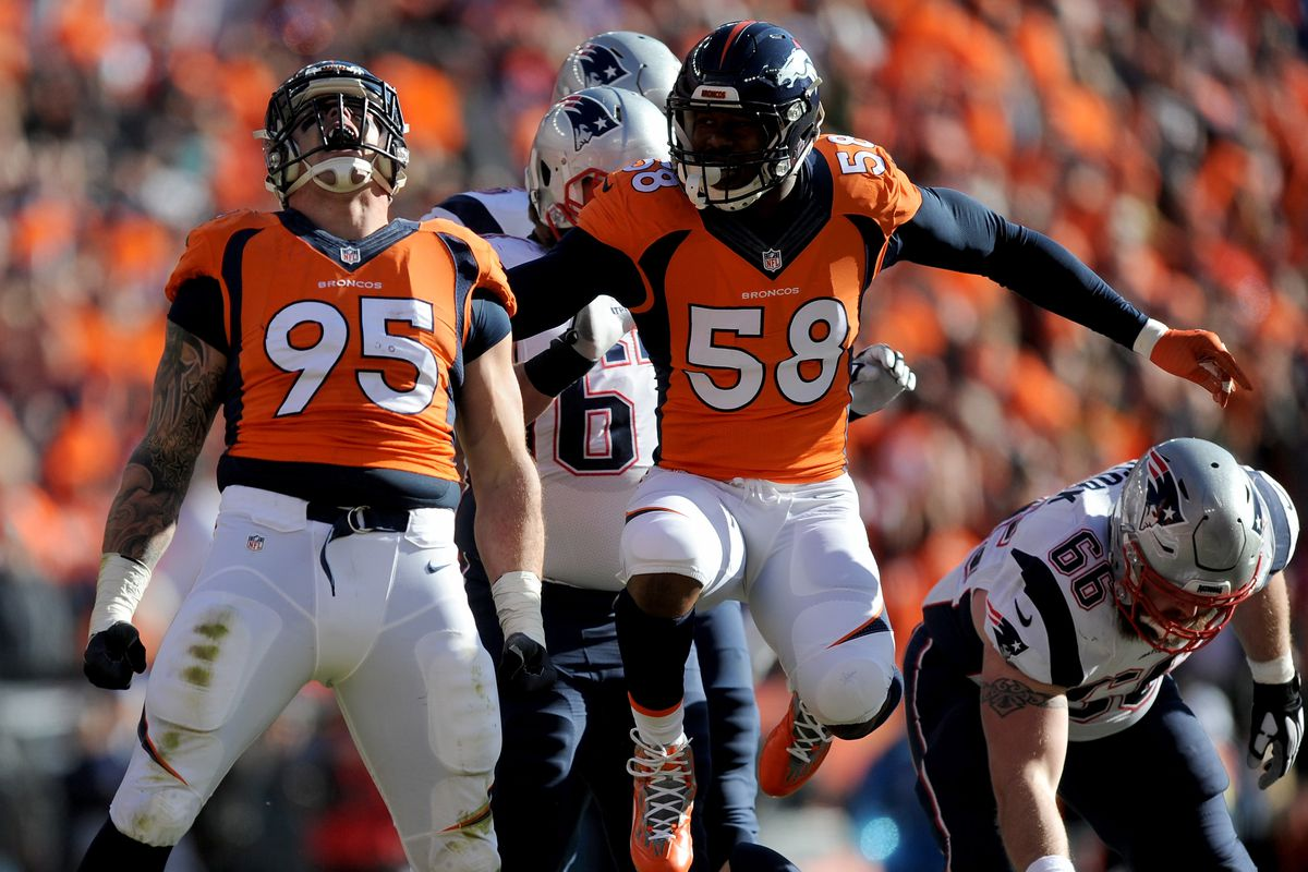 "T J Ward says Broncos defensive end Derek Wolfe told Tom Brady ""I"