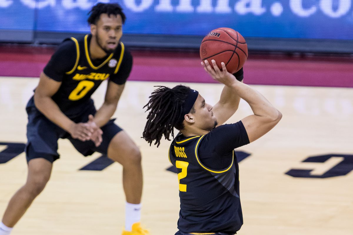 Missouri Tigers guard Drew Buggs shoots against the South Carolina Gamecocks in the first half at Colonial Life Arena.