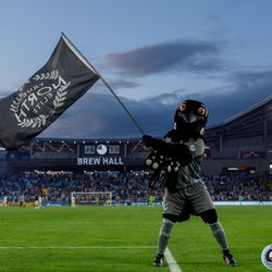 July 10, 2019 - Saint Paul, Minnesota, United States - PK waves the True North Elite flag as the match draws to a close with Minnesota United defeating New Mexico United during the quarter-final match of the US Open Cup at Allianz Field.