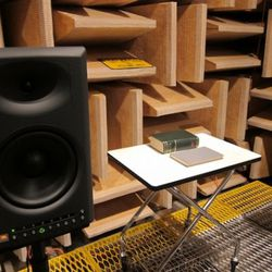 Speaker testing in the soundproofed, echo-proof room