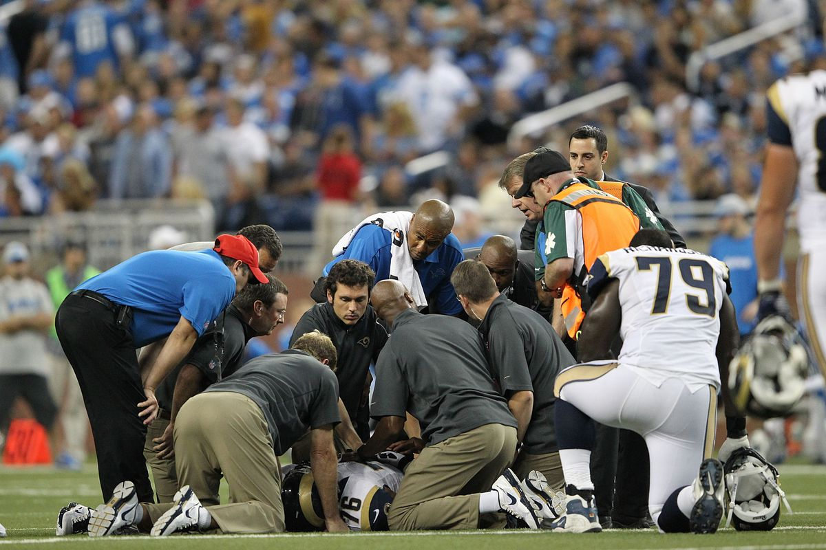 The scene after Rodger Saffold's Week 1 injury