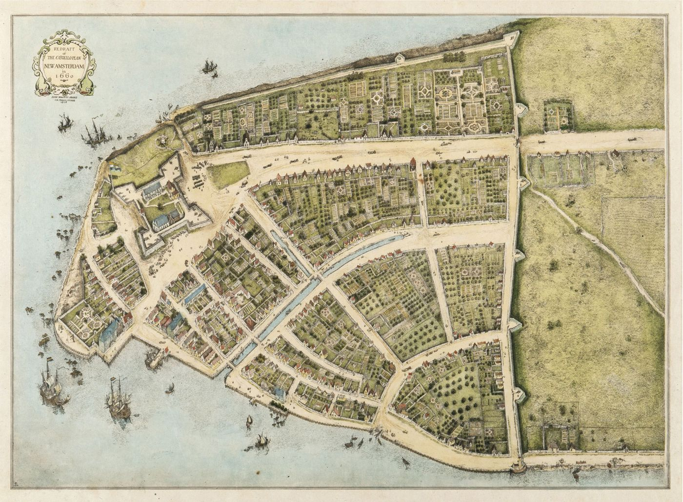 When Wall Street Was a Wall: A 1660 Map of Manhattan - Curbed NY