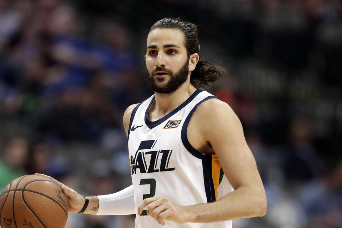 hot sale online 42bd6 3459e Utah Jazz guard Ricky Rubio questionable against former ...
