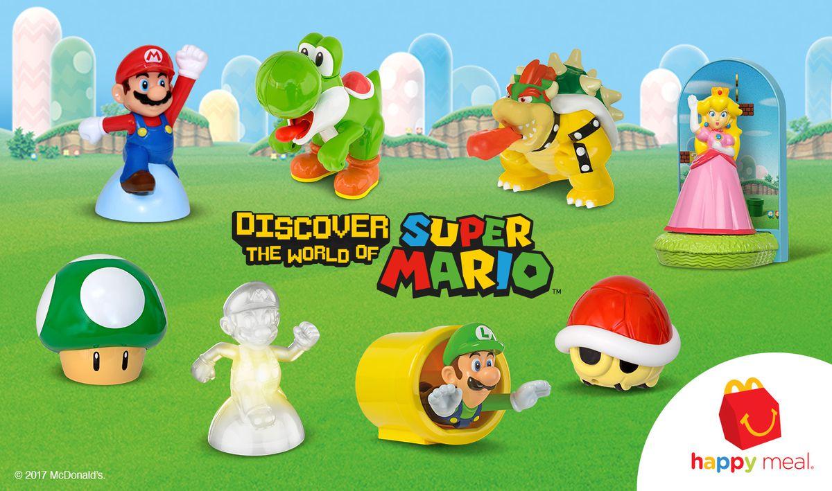 Super Mario Happy Meal toys