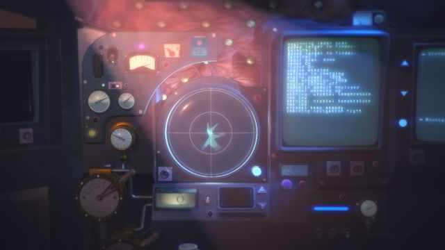 Nauticrawl: 20,000 Leagues - a shot of the screen that the player must use to control their vehicle and escape in Nauticrawl.