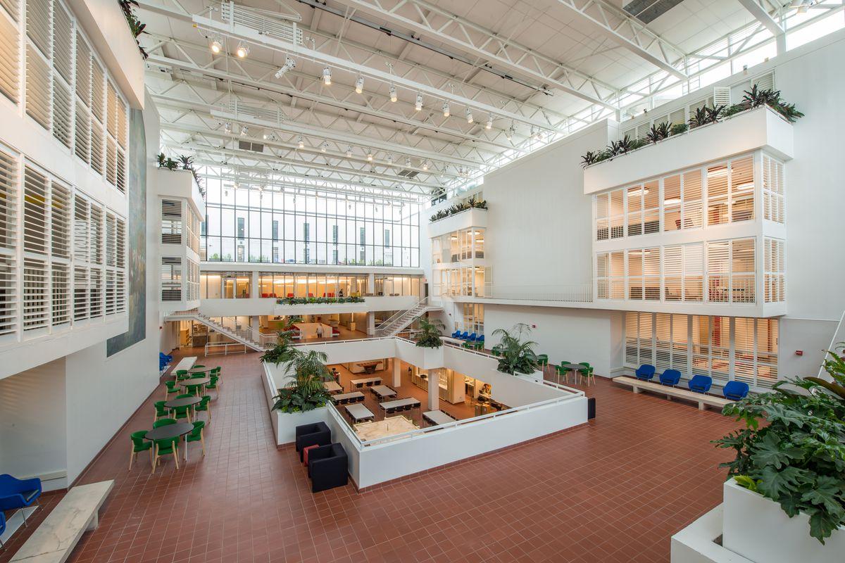 Inside penn s 80m renovation of eero saarinen s hill Illinois state university interior design