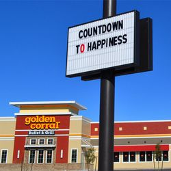 Las Vegas, home of the buffet, welcomes the Golden Corral chain to Nevada.