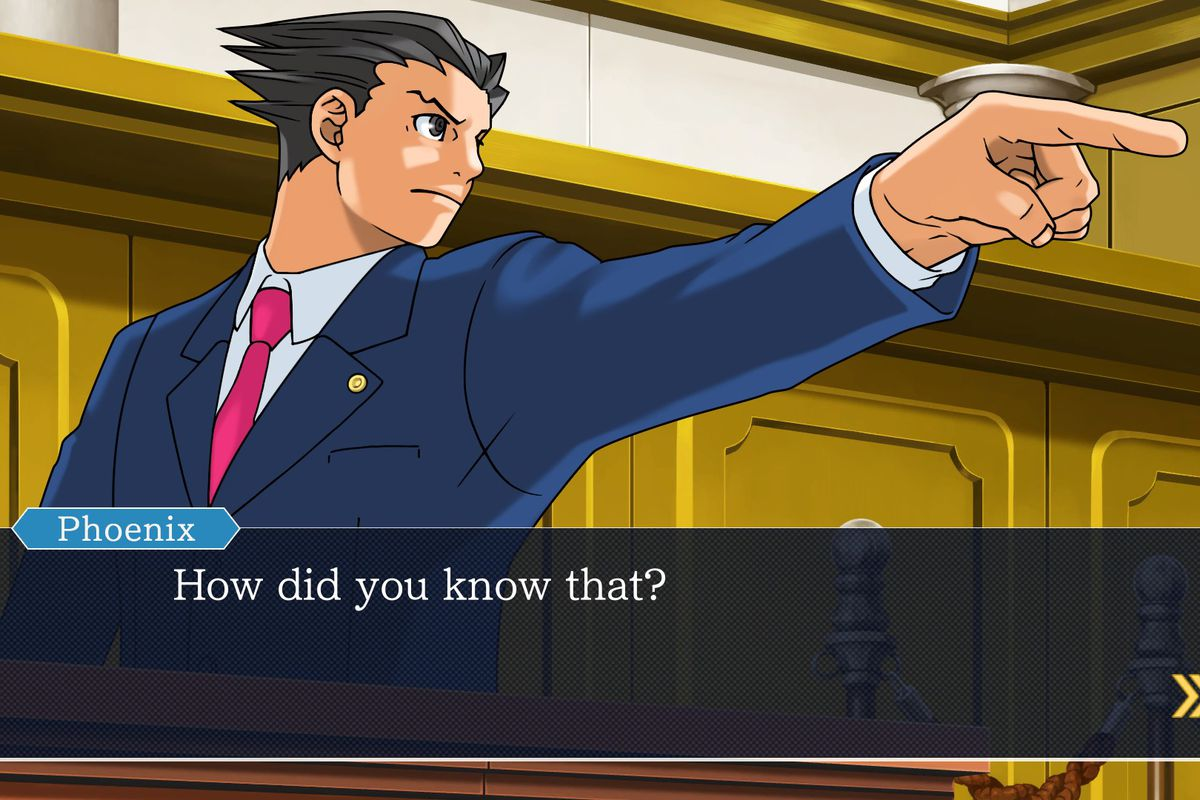 Image result for phoenix wright ace attorney gameplay